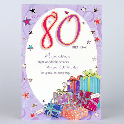 80th birthday card with insert happy 80th birthday lovely 80th birthday card with insert happy 80th birthday lovely greeting card m4hsunfo