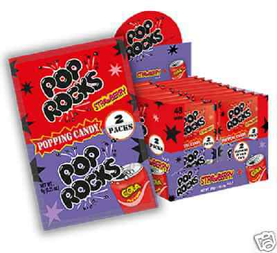 5 x Pop Rocks Popping Candy Stawberry + Cola flavour (6g each)