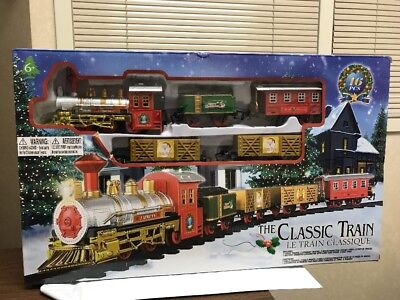 The Classic Battery Operated Christmas Tree Kids Toy Train Set Light Sound