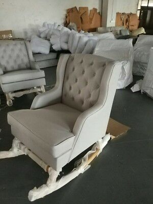 Bordeaux  Breast Feeding Nursery Rocking Chair Side Wing