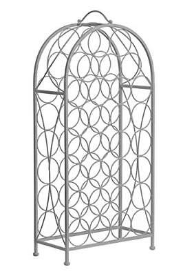 Premier Housewares – Cafe Cassis 29-bottle vino rack, Metallo, Grigio (s7R)