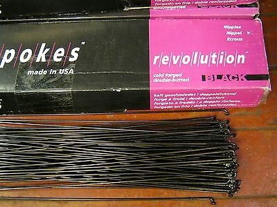 DT SWISS REVOLUTION Black Spokes 2.0/1.5mm Dbl. Butted *Any Qty**Any Length*NEW