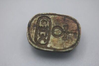 Egyptian Tuthmosis Iii Steatite Scaraboid Seal - (Menkheperure) - New Kingdom, C