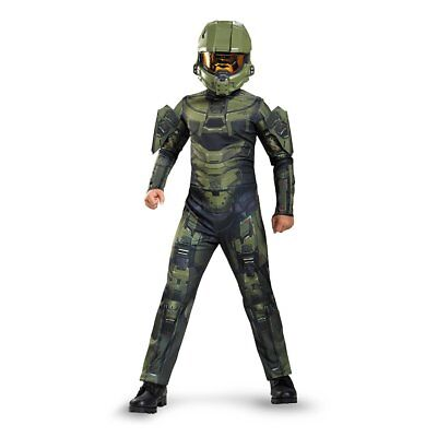 Halo Master Chief Classic Kids Children Boys Halloween Party Costume - Large