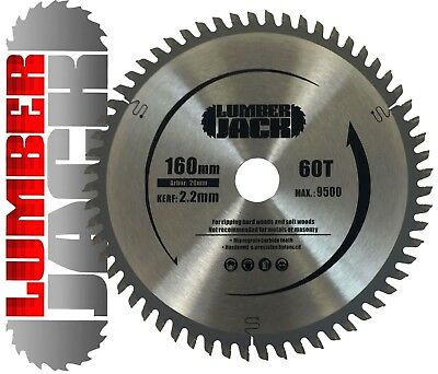 Lumberjack 60 Tooth TCT Wood Circular Saw Blade Festool Plunge TS55 160mm x 20mm