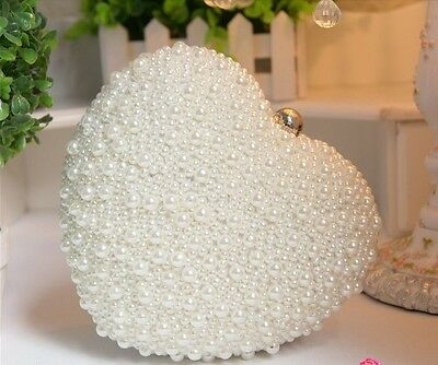 NEW Beads Bride Bag Evening Bag Bag Clutch with Chain Pearl Bag Bridal