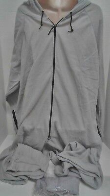 Forever Lazy Lightweight Adult One-Piece Pajama Jumpsuit Grey