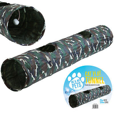 Me & My Pet Army Camouflage Crinkly Pop Up Play Tunnel Puppy/Rabbit/Cat/Kitten