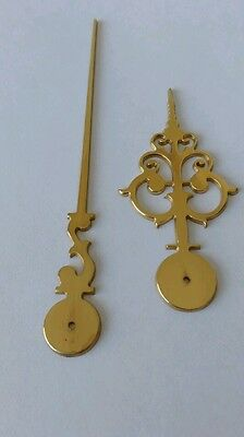 Polished Brass Clock Hands Milled 100mm