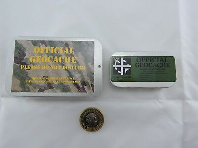 Geocache Cache Container. Slide Lid Tin Key Safe. Magnetic Or Not Ready To Hide