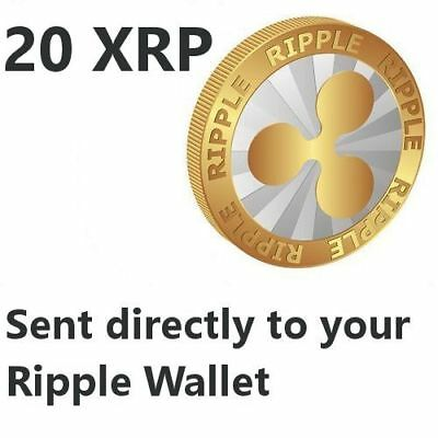 20 Ripple (XRP) Coin Crypto Currency to your Ripple XRP Wallet ---- USA SELLER