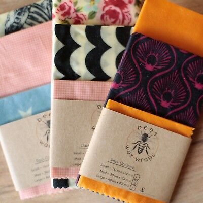 Bees Wax Wraps Made in the Cotswolds - Medium Pack