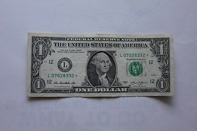 2013 SERIES $1 DOLLAR FEDERAL RESERVE STAR NOTE  - Circulated