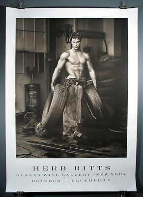Herb Ritts, Fred With Tyres, Tires, GIANT 39x55 Poster