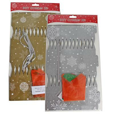 DIY 6 Pack Make your Own Christmas Cracker Kit - Silver or Gold