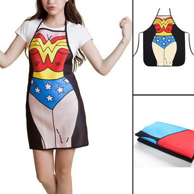 Sexy Wonder Woman Kitchen Cooking Chef Novelty Funny Naked Bbq Party Apron Gift