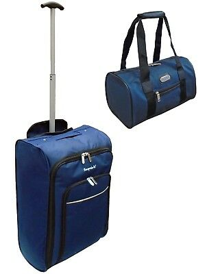 Cabin Approved wheeled hand luggage bag / additional Personal small Bag Navy