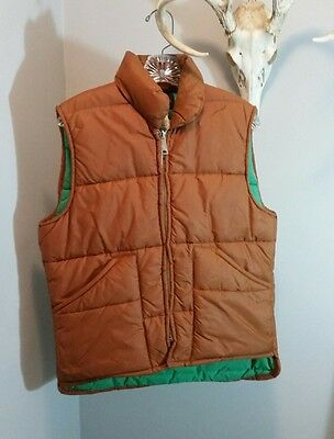 Vintage A & M Industries tan and green vest size Medium USA