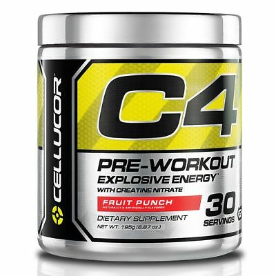Cellucor C4 195G 30 Servings Strong Pre Workout Pump Power All Flavours