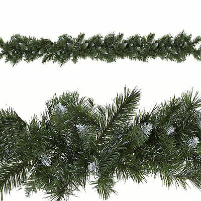Christmas Decoration - 9ft Artificial Undercoated Garland - 240 Snowy Tips