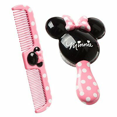 Cute Minnie Mouse Brush and Comb Set Toodler Girl Grooming Care Beauty Pink