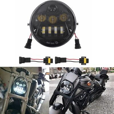 Black Hi/Lo LED Headlight Daymaker Harley V Rod V-rod VROD VRSC VRSCA VRSCDX Led