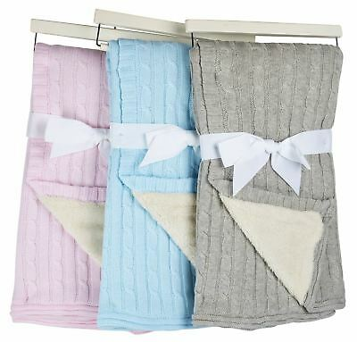 Baby Blanket Gift in Pink, Grey or Blue