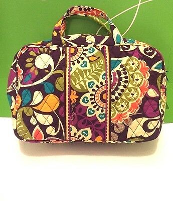 NWT Vera Bradley Travel GRAND Cosmetic Bag In Plum Crazy