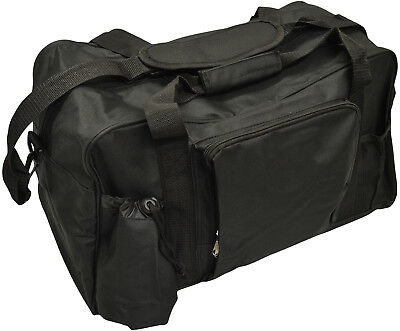40 Litre Black Gym Bag With Shoulder Strap Sports Travel Luggage Holdall