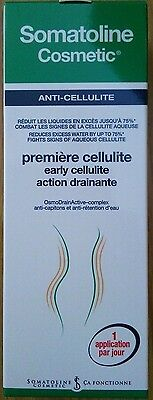 Neuf Lot De 2 Somatoline Cosmetic  Premiere Cellulite Early Action Drainante