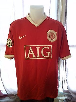 MAILLOT FLOQUE NIKE MANCHESTER UNITED ROONEY 8 TAILLE XL - shirt camiseta maglia
