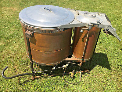 Antique Easy Copper Chrome Brass Electric Washing Machine