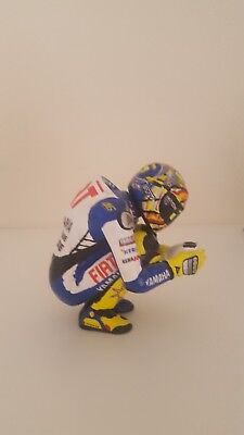 Valentino Rossi Fiat Yamaha Diecast Model Bike And Unique Hand Painted Figurine