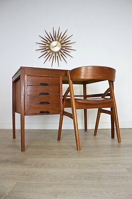 DELIVERY £50 Mid Century Retro Danish Teak Single Pedestal Desk