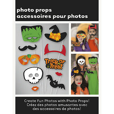 10pcs Party Props Photo Booth Funny Selfie Kit Halloween Consume Party Events UK