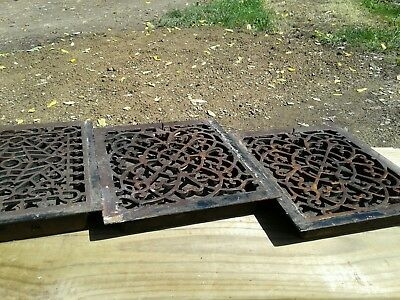 Vintage cast iron furnace heat grates