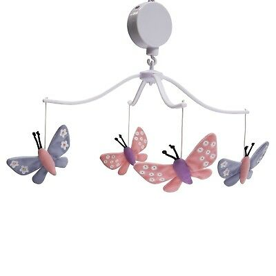 Bedtime Originals Butterfly Meadow Musical Mobile New Open Box