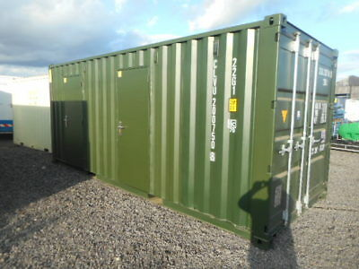 20' x 8' shipping container 2 x 10' anti vandal store portable building site