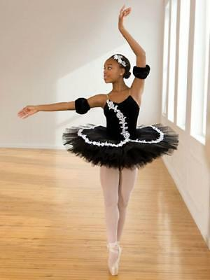Dance Costume Small Adult Black White Ballet POINTE YAGP Solo Competition