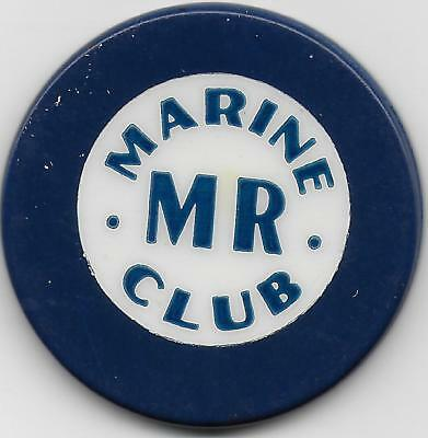 Very Nice Crest & Seal Casino Chip-MARINE MR CLUB-San Fransico, Ca. M1810-Closed