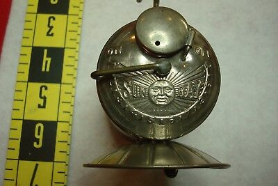 "Scarce Antique Nickel ""sun Ray"" Coal Mine Mining Carbide Lamp Light"