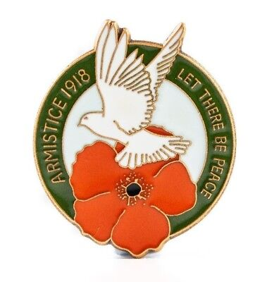 Ww1 Armistice 1918 Let There Be Peace Dove Design Enamel Remembrance Day Badge