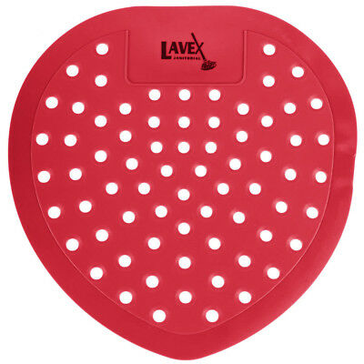 72 CASE Lavex Janitorial STRAWBERRY Scent Deodorizing Urinal Screen Pad w/ GLOVE