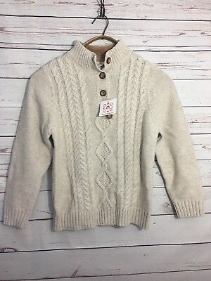 NWT Hannah anderson 130 Sweater Tan Merino Wool Elbow Patches
