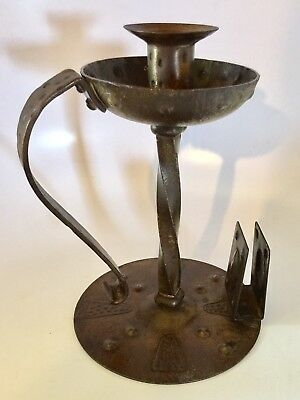 Antique GOBERG Hugo German Vienna  Secession Art Nouveau Candlestick Chamber