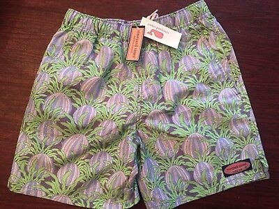 NWT Vineyard Vines Sea Urchin Chappy Baltic Blue Swim Suit Boys Size 8-10