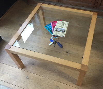 Habitat 70's Coffee Table simple classic wood & glass top deliveryOR collect NN8