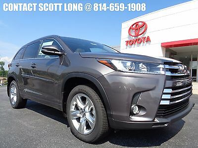 2017 Toyota Highlander New 2017 Limited Nav Sunroof Leather AWD New 2017 Highlander Limited AWD Navigation Heated Cooled Leather PreDawn Gray
