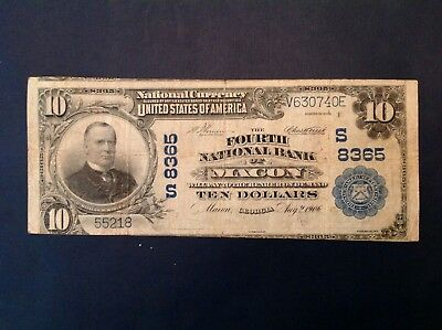Macon Georgia $10 1902 Series (1906)  Fourth National Bank note Charter 8365