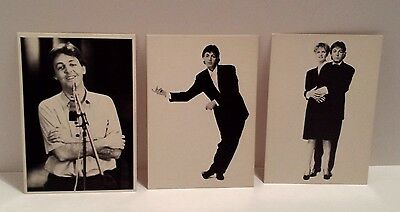 PAUL & LINDA McCARTNEY POSTCARDS 1983-84 Set of 3 MPL COMMUNICATIONS COLLECTIBLE